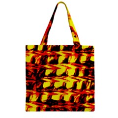 Yellow Seamless Abstract Brick Background Zipper Grocery Tote Bag by Nexatart