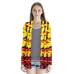 Yellow Seamless Abstract Brick Background Cardigans by Nexatart