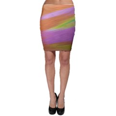 Metallic Brush Strokes Paint Abstract Texture Bodycon Skirt by Nexatart