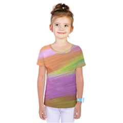 Metallic Brush Strokes Paint Abstract Texture Kids  One Piece Tee by Nexatart
