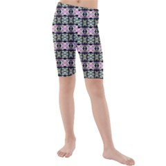 Colorful Pixelation Repeat Pattern Kids  Mid Length Swim Shorts by Nexatart