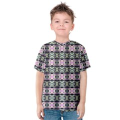 Colorful Pixelation Repeat Pattern Kids  Cotton Tee by Nexatart