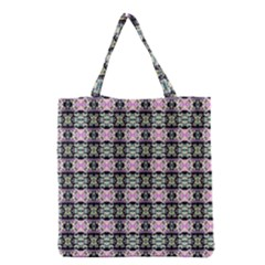 Colorful Pixelation Repeat Pattern Grocery Tote Bag by Nexatart