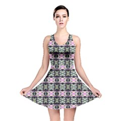 Colorful Pixelation Repeat Pattern Reversible Skater Dress by Nexatart