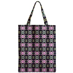 Colorful Pixelation Repeat Pattern Zipper Classic Tote Bag by Nexatart