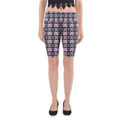 Colorful Pixelation Repeat Pattern Yoga Cropped Leggings by Nexatart