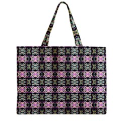 Colorful Pixelation Repeat Pattern Medium Zipper Tote Bag by Nexatart