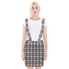 Colorful Pixelation Repeat Pattern Suspender Skirt by Nexatart