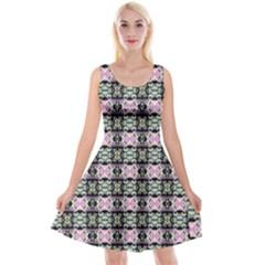 Colorful Pixelation Repeat Pattern Reversible Velvet Sleeveless Dress by Nexatart