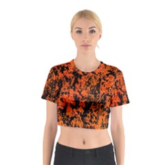 Abstract Orange Background Cotton Crop Top by Nexatart