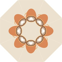 Artin Coffee Chocolate Brown Heart Love Golf Umbrellas by Mariart