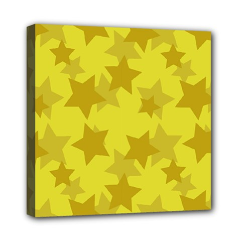 Yellow Star Mini Canvas 8  X 8  by Mariart