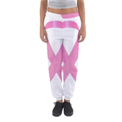 Breast Cancer Ribbon Pink Women s Jogger Sweatpants by Mariart