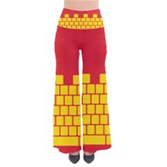 Firewall Bridge Signal Yellow Red Pants by Mariart