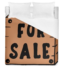 For Sale Sign Black Brown Duvet Cover (queen Size) by Mariart