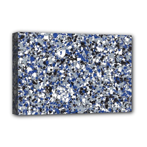 Electric Blue Blend Stone Glass Deluxe Canvas 18  X 12   by Mariart