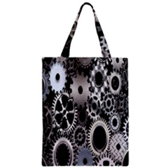Gears Technology Steel Mechanical Chain Iron Zipper Classic Tote Bag by Mariart