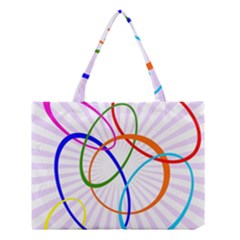 Abstract Background With Interlocking Oval Shapes Medium Tote Bag by Nexatart