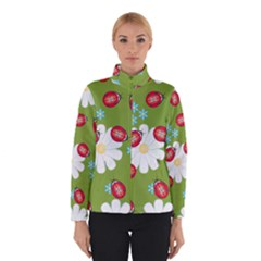 Insect Flower Floral Animals Star Green Red Sunflower Winterwear by Mariart