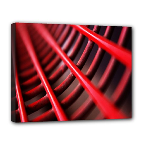 Abstract Of A Red Metal Chair Canvas 14  X 11  by Nexatart