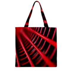 Abstract Of A Red Metal Chair Zipper Grocery Tote Bag by Nexatart
