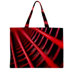 Abstract Of A Red Metal Chair Zipper Mini Tote Bag by Nexatart