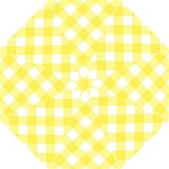 Plaid Chevron Yellow White Wave Folding Umbrellas by Mariart