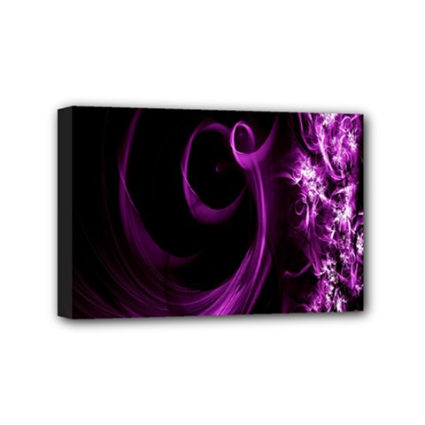 Purple Flower Floral Mini Canvas 6  X 4  by Mariart