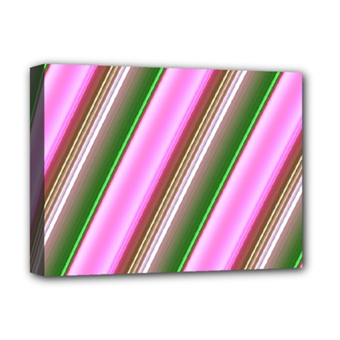 Pink And Green Abstract Pattern Background Deluxe Canvas 16  X 12   by Nexatart