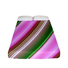 Pink And Green Abstract Pattern Background Fitted Sheet (full/ Double Size)