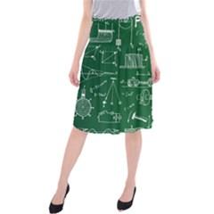Scientific Formulas Board Green Midi Beach Skirt by Mariart