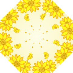 Sunflowers Flower Floral Yellow Hook Handle Umbrellas (small) by Mariart
