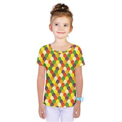 Flower Floral Sunflower Color Rainbow Yellow Purple Red Green Kids  One Piece Tee by Mariart