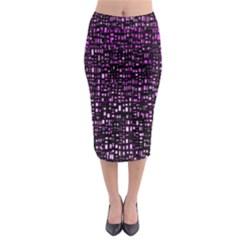 Purple Denim Background Pattern Midi Pencil Skirt by Nexatart