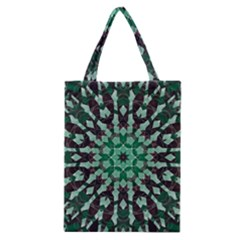 Abstract Green Patterned Wallpaper Background Classic Tote Bag by Nexatart