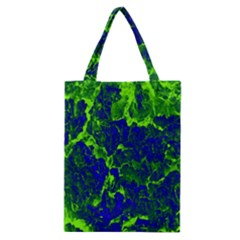 Abstract Green And Blue Background Classic Tote Bag by Nexatart