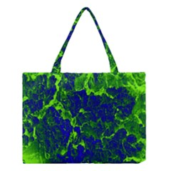 Abstract Green And Blue Background Medium Tote Bag by Nexatart