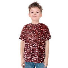 Red Box Background Pattern Kids  Cotton Tee