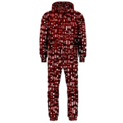 Red Box Background Pattern Hooded Jumpsuit (men)