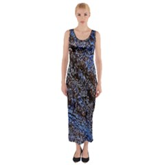 Cracked Mud And Sand Abstract Fitted Maxi Dress by Nexatart