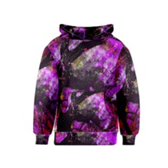 Pink Abstract Tree Kids  Pullover Hoodie by Nexatart