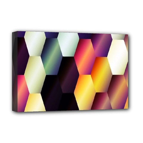 Colorful Hexagon Pattern Deluxe Canvas 18  X 12   by Nexatart