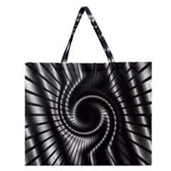 Abstract Background Resembling To Metal Grid Zipper Large Tote Bag by Nexatart