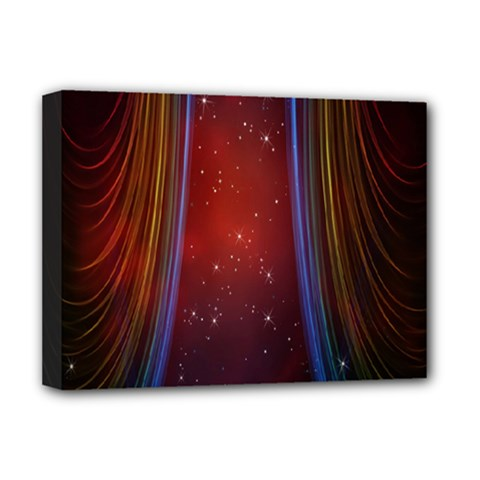 Bright Background With Stars And Air Curtains Deluxe Canvas 16  X 12   by Nexatart