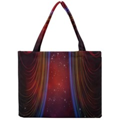 Bright Background With Stars And Air Curtains Mini Tote Bag by Nexatart