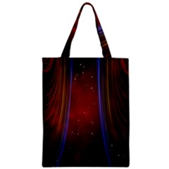 Bright Background With Stars And Air Curtains Zipper Classic Tote Bag by Nexatart
