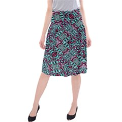 Stylized Texture Luxury Ornate Midi Beach Skirt by dflcprintsclothing