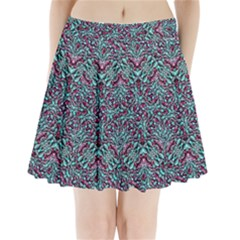 Stylized Texture Luxury Ornate Pleated Mini Skirt by dflcprintsclothing