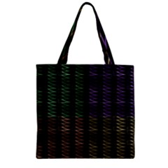 Multicolor Pattern Digital Computer Graphic Zipper Grocery Tote Bag by Nexatart