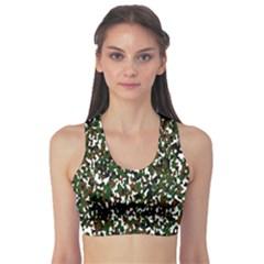 Camouflaged Seamless Pattern Abstract Sports Bra by Nexatart